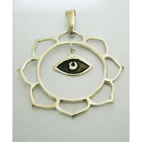 PI196 - Pingente Mandala c/ Olho Grego