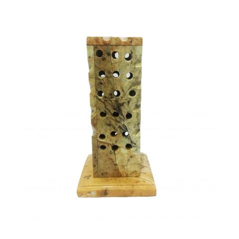 FA010-02- Incensário Pedra Sabão Defumador Quadrado