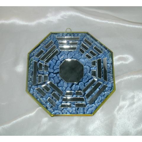 RO5507-6 - Ba-gua de Espelho C/ Escrita Azul (12cm)