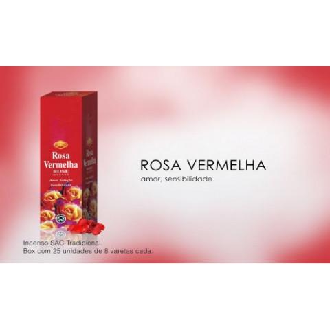 0253 - Incenso SAC Rosa Vermelha