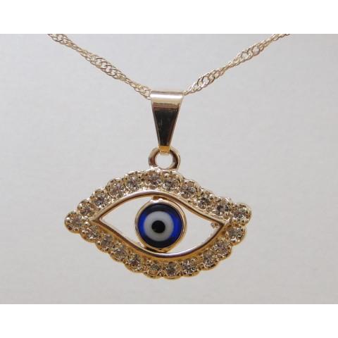 SH5018 - Gargantilha Olho de Horus c/ Strass