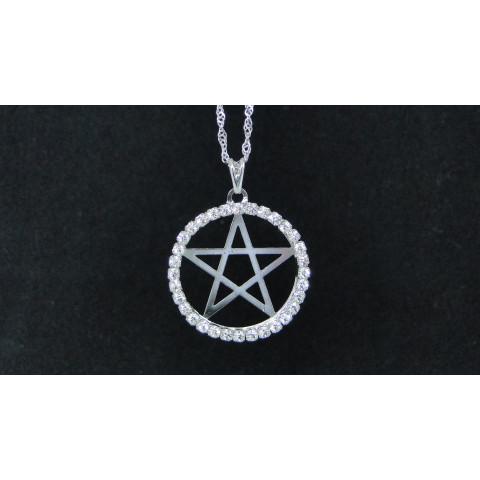 SH5611 - Gargantilha Pentagrama c/ Strass