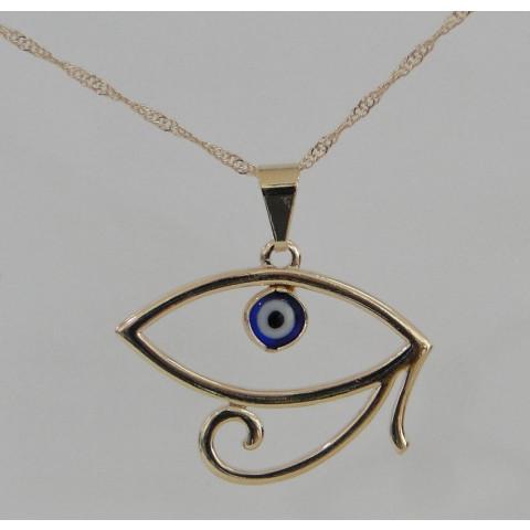 SH5628 - Gargantilha Olho de Horus c/ Olho Grego