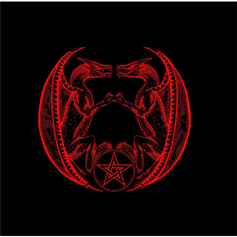 EG001-17 - Toalha p/ Tarot Dragão Vermelha