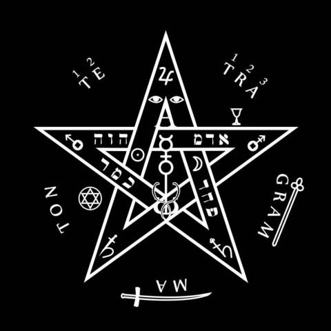 EG001-7 - Toalha p/ Tarot Tetragramaton Preta