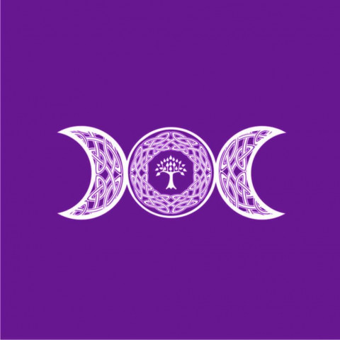 EG001-3 - Toalha p/ Tarot Triluna Roxo