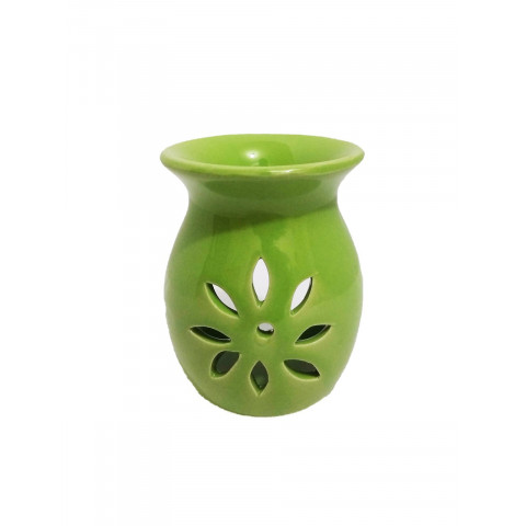 BC7813028VDE - Rechô Cerâmica Floral Oval Verde