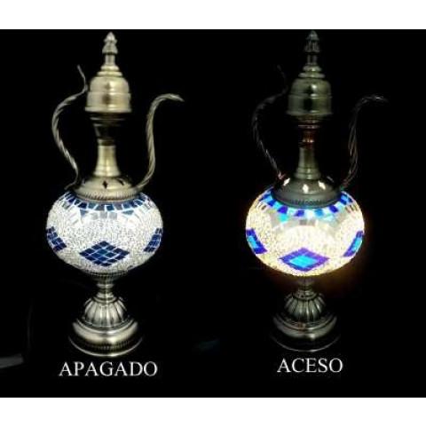 CPA300094606 - Abajur Turco YMA95-15 Azul/Branco