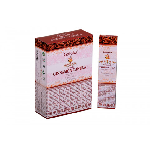 0370 - Incenso Massala Goloka Cinnamon Canela