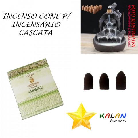 0773 - Incenso Goloka Cone Cascata Jasmine