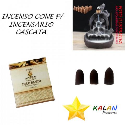 0768 - Incenso Goloka Cone Cascata Palo Santo