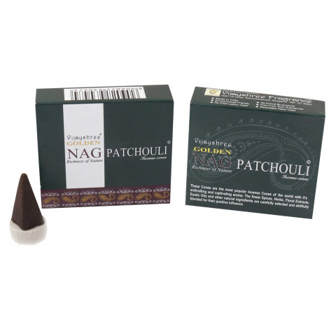 0196 - Incenso Golden Nag Cone Patchouli