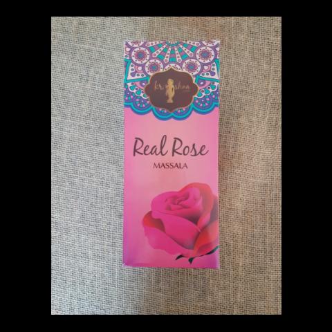0407 - Incenso Massala Krishna Love Real Rose
