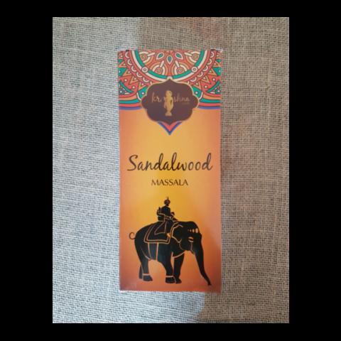 0408 - Incenso Massala Krishna Love Sandalwood