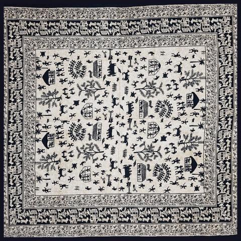 JMD806-104 - Manta Indiana Civilização Preta