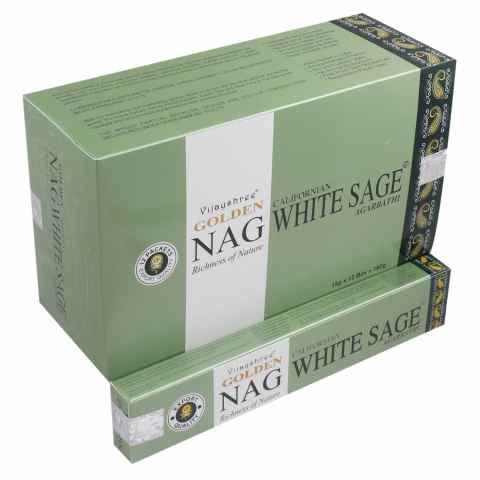 0786 - Incenso Massala Golden Nag White Sage