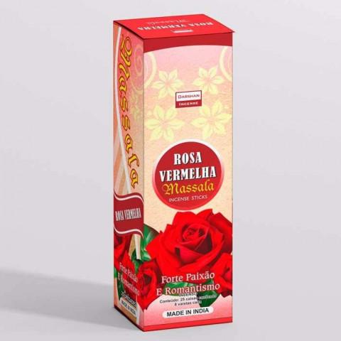 1949 - Incenso Indiano Darshan Massala Rosa Vermelha