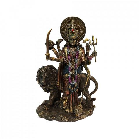 CPB040169234 - Durga Em Pé Bronzeado