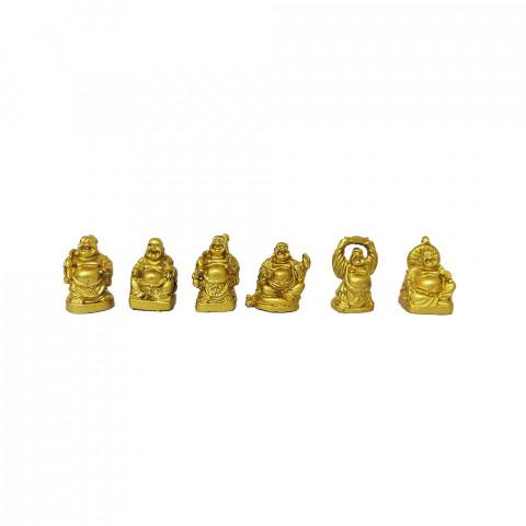 BP4011 - Kit c/ 6un Buda Sentado Dourado PP