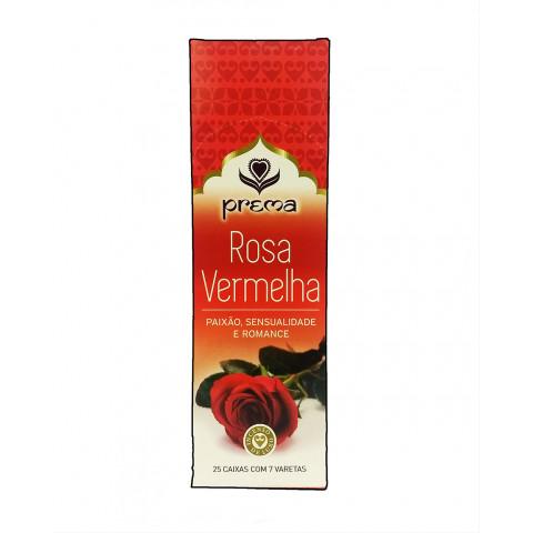 3524 - Incenso Indiano Prema Rosa Vermelha