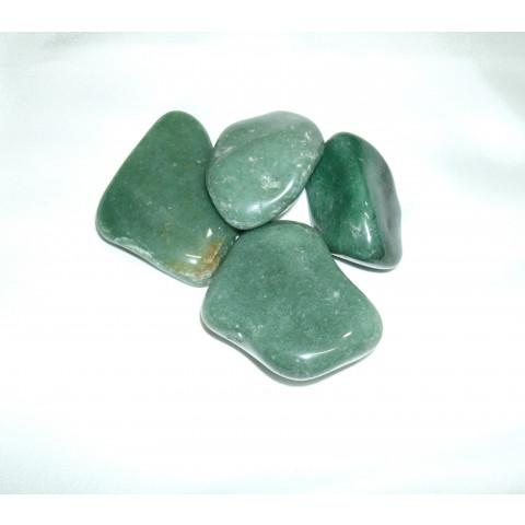 4004 - Pedra Rolada Quartzo Verde - 100g.
