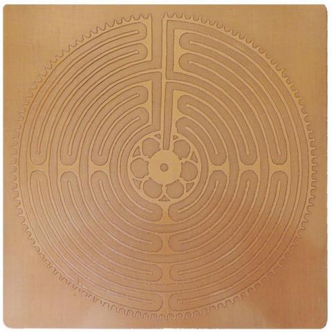 EG9907 - Gráfico Radiônico de Cobre (Labirinto D'Amiens)