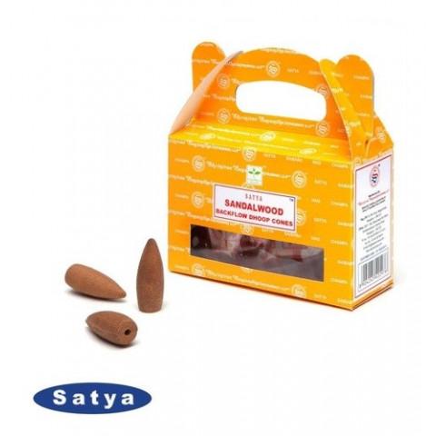 61625 - Incenso Satya Cone Cascata - Sandalwood