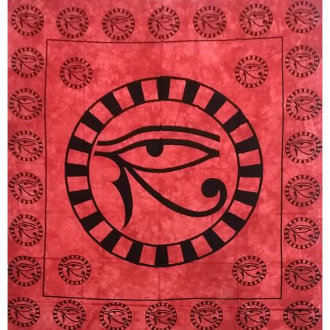 JMD806-06 - Manta Indiana  Olho De Hórus Vermelha