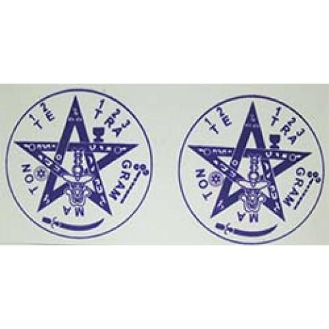 AD008 - Adesivo Tetragramaton (P) c/ 2