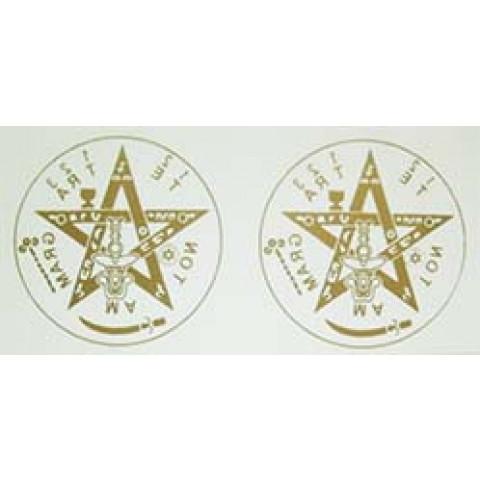 AD019- Adesivo Tetragramaton p/ Carro c/ 2