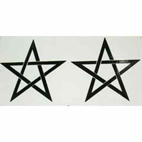 AD036 - Adesivo Pentagrama (M) c/ 2