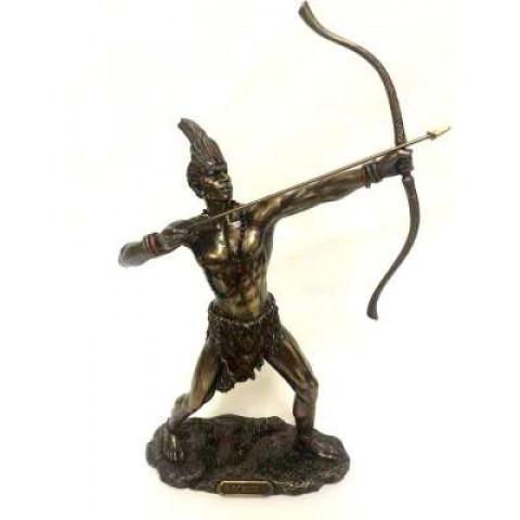 CPA041309234 - Oxossi Caçador Divino Bronzeado