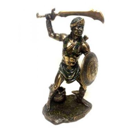 CPA041579234 - Escultura Ogun Bronzeado