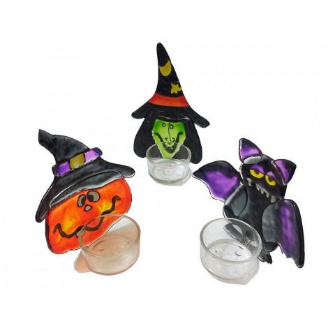 DEC117-307 - Kit Castiçal De Vidro Especial Halloween