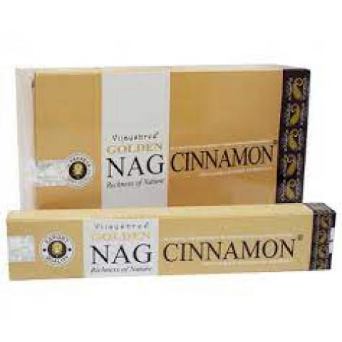 0723 - Incenso Massala Golden Nag Cinnamon
