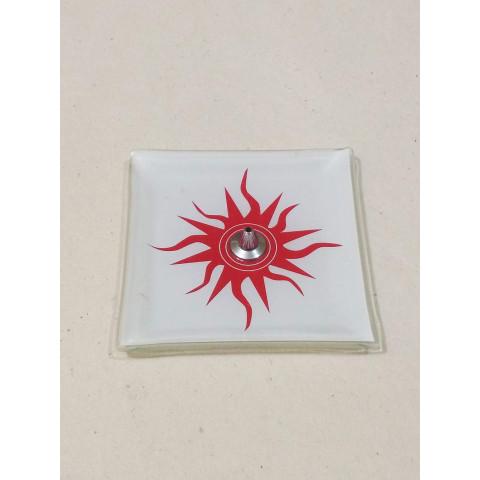 H1052- Incensário de Vidro Vertical Sol