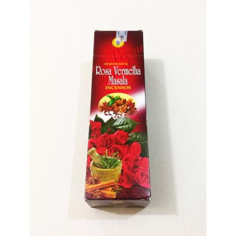 0327 - Incenso Shankar Massala Rosa Vermelha