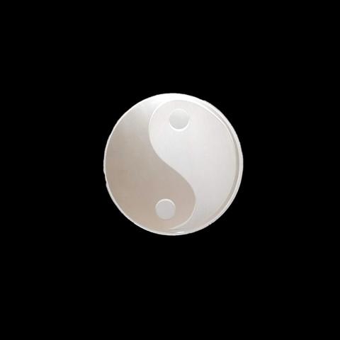 CI3030-04 - Mandala Espelho Jateado Ying Yang