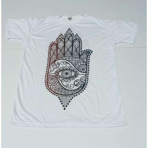 JA084 - Camiseta Branca  (Hamsa II)
