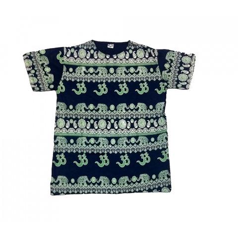 JA098 - Camiseta Azul (Elefantes C/ OM)