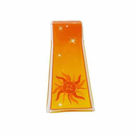 H1078 - Incensário de Vidro Horizontal Sol