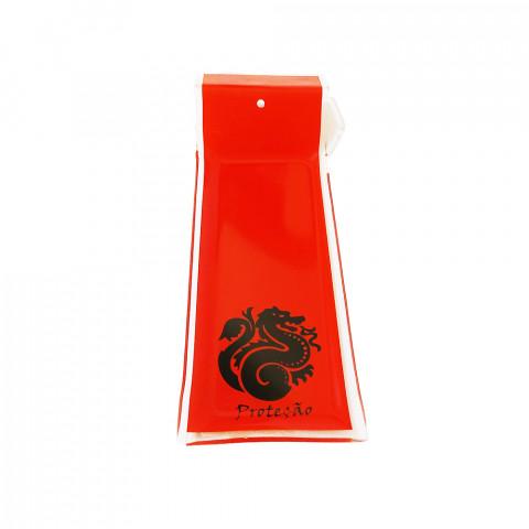 H1072 - Incensário de Vidro Horizontal Dragão Vermelho
