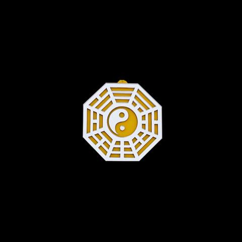 MA4103-03 - Baguá Acrílico Espelhado Céu Anterior Amarelo (M)