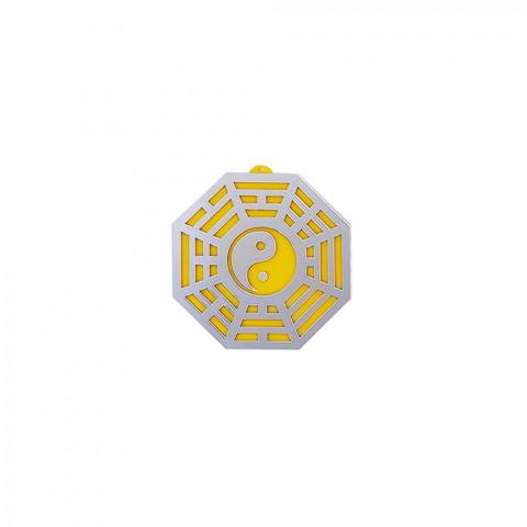 MA4103-11 - Baguá Acrílico Espelhado Céu Posterior Amarelo (M)