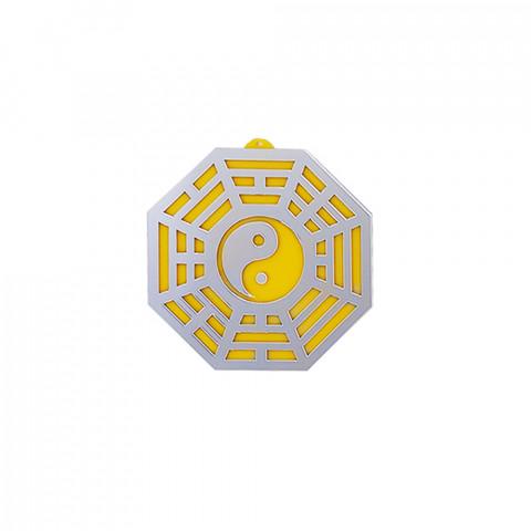 MA4100-11 - Baguá Acrílico Espelhado Céu Posterior Amarelo (G)