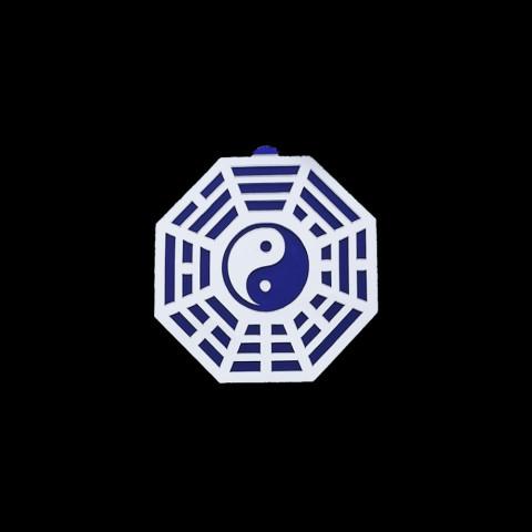 MA4100-07 - Baguá Acrílico Espelhado Céu Anterior Azul (G)