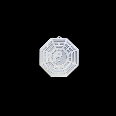 MA4103-09 - Baguá Acrílico Espelhado Céu Posterior Branco (M)