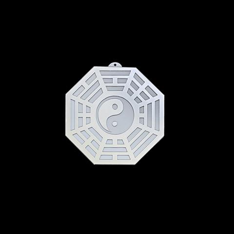 MA4100-09 - Baguá Acrílico Espelhado Céu Posterior Branco (G)