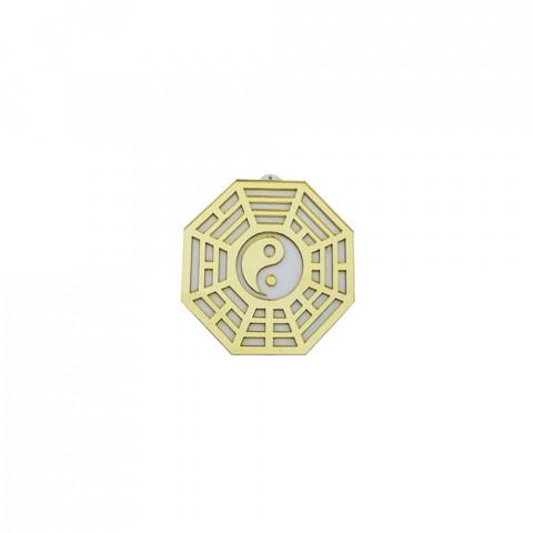 MA4103-04 - Baguá Acrílico Espelhado Céu Anterior Dourado (M)