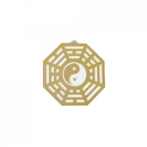 MA4100-12 - Baguá Acrílico Espelhado Céu Posterior Dourado (G)